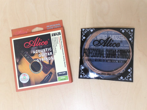 "Alice AW436-M Professional Acoustic Guitar Strings (.013""~.056"")Concert Strings"
