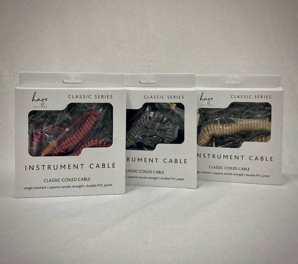 Haze Instrument Cable Classic Coiled Lead TJ128*2S