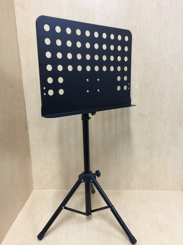 Haze Heavy Duty Professional Sheet Music Stand Adjustable Height Black MUS003