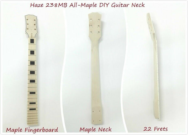 Haze Electric Guitar DIY Neck,All-Maple,22 Fret,Bolt-on,Scale 628mm. |238/239MB|