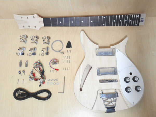RC Style Semi-Hollow Body Electric Guitar DIY,No-Soldering,HH Pickups. HSRC 1910