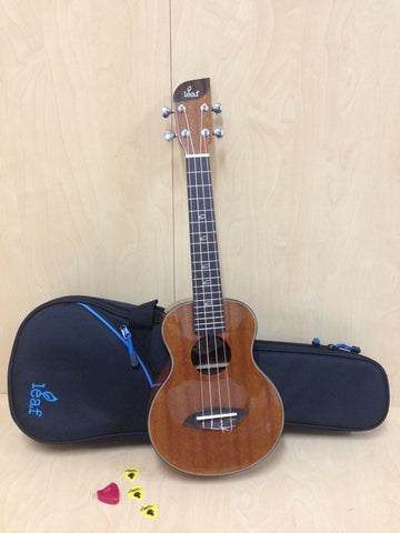 Leaf L100 All-Mahogany Concert Ukulele,Gloss+10mm Padded Bag-Cosmetic Blemished