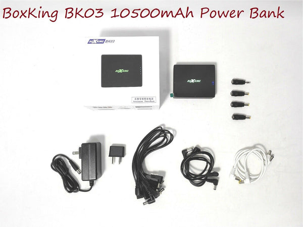 BoxKing BK03 Noise-free Portable Power Bank for Pedalboard/Musical Instruments, 10500mAh