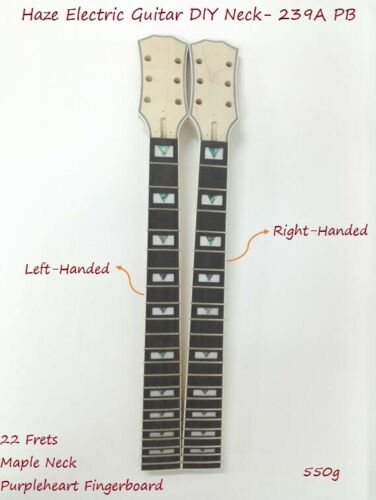 Haze Electric Guitar DIY Neck,Right-Handed,Left-Handed,LP Style,22 Fret. 239A PB