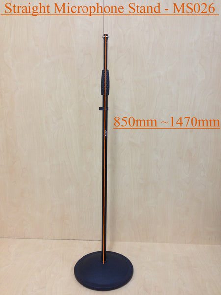 Haze MS026 Cast Iron Round Base Rod Combination Microphone Stand - Black
