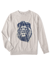 Organic Unisex Lion Fleece Sweatshirt