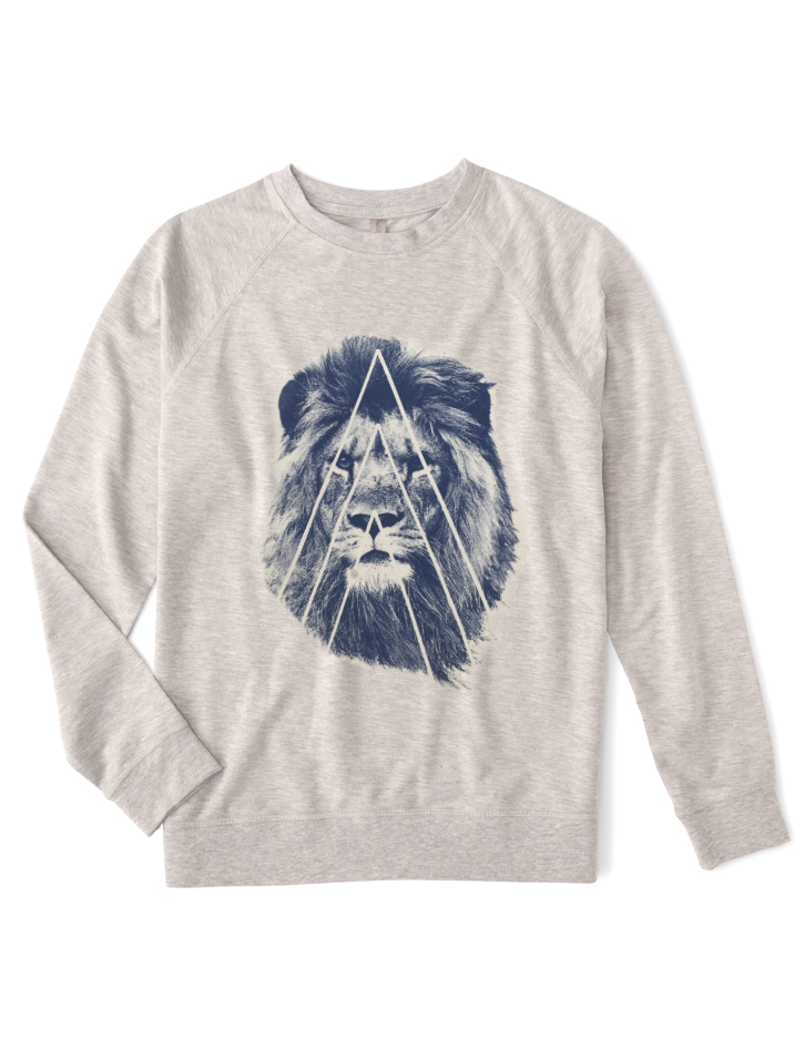 Organic Unisex Lion Fleece Sweatshirt - BY DEFINITION