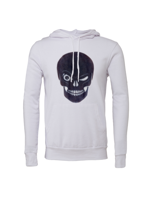 Unisex Winking Skull Fleece Hoodie - BY DEFINITION
