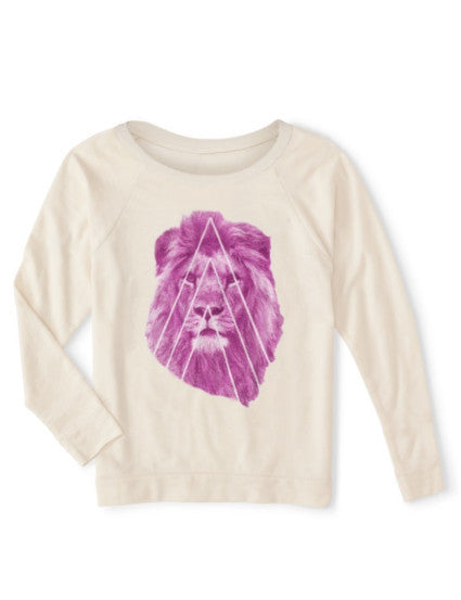Organic Pink Street Lion Sweater - BY DEFINITION