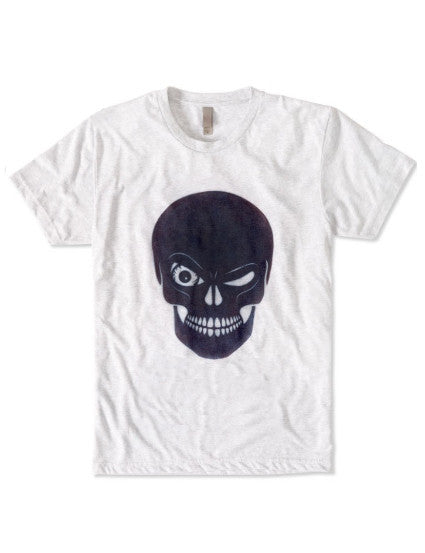 Winking Skull T-Shirt: ultimate modern fit, durable, breathable for workout or for casual, ring-spun cotton, recycled fabric, eco-friendly, sustainable