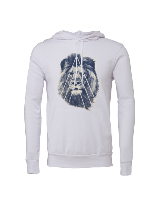 Unisex Street Lion Fleece Hoodie - BY DEFINITION