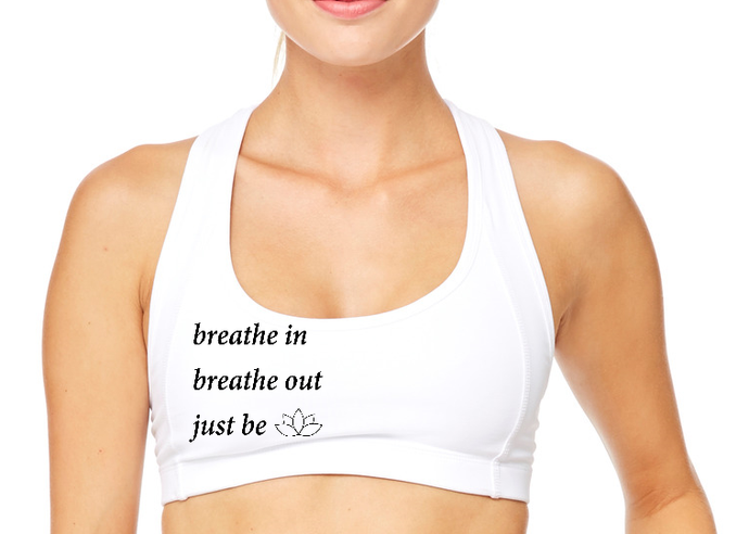Breathe in Breathe Out Sports Bra - BY DEFINITION