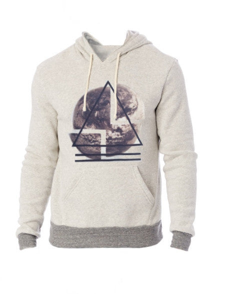 Organic fleece sweatshirt with eco-friendly graphic ink lion for the athleisure sport, comfortable and soft, both men and women with plus size available