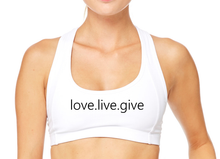Live.Love.Give Sports Bra - BY DEFINITION