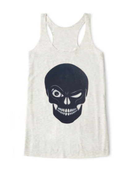 Organic Winking Skull Tank Top - BY DEFINITION
