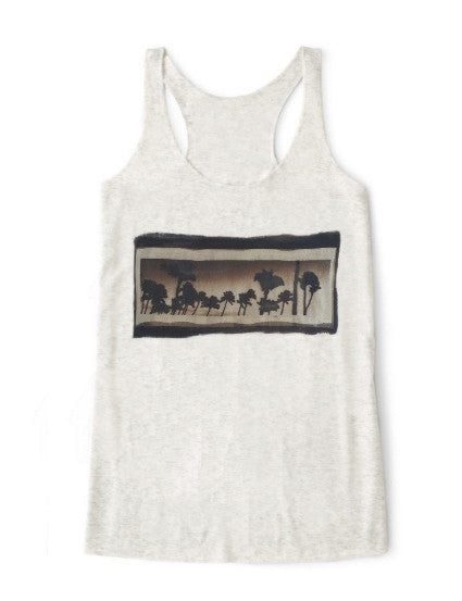 California Dreamin' Tank Top: ultimate modern fit, durable, breathable for workout or for casual, ring-spun cotton, recycled fabric, eco-friendly, sustainable