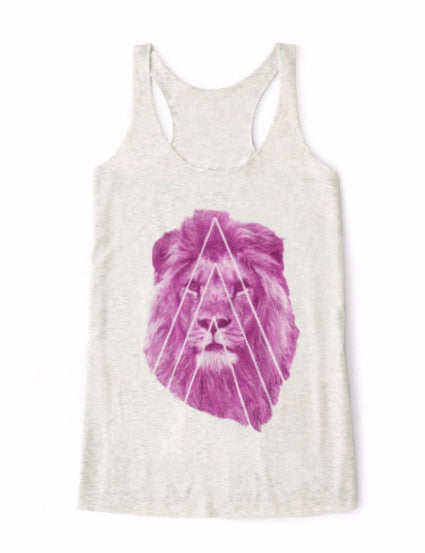 Pink Street Lion Tank Top: ultimate modern fit, durable, breathable for workout or for casual, ring-spun cotton, recycled fabric, eco-friendly, sustainable
