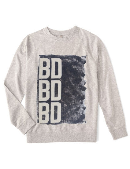BD BY DEFINITION Organic fleece sweatshirt with eco-friendly graphic ink for the athleisure sport, comfortable and soft, men and women with plus size available