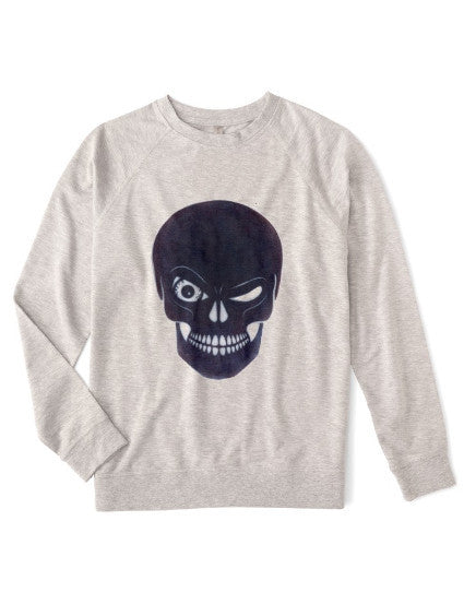 Organic Unisex Skull Fleece Sweatshirt - BY DEFINITION
