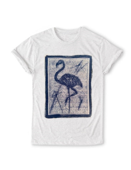 Flamingo T-shirt: ultimate modern fit, durable, breathable for workout or for casual, ring-spun cotton, recycled fabric, eco-friendly, sustainable