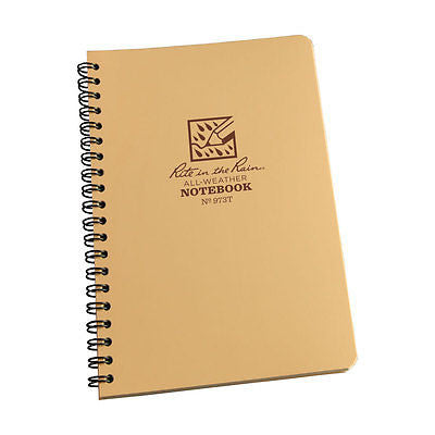 "Tactical Pocket Notebook 4 5/8 "" x 7"" TAN"