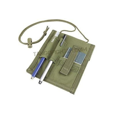 Badge ID Credit Card Pen Holder Pouch w/ Neck Strap OD Green