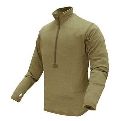 BASE II Zip Pullover TAN