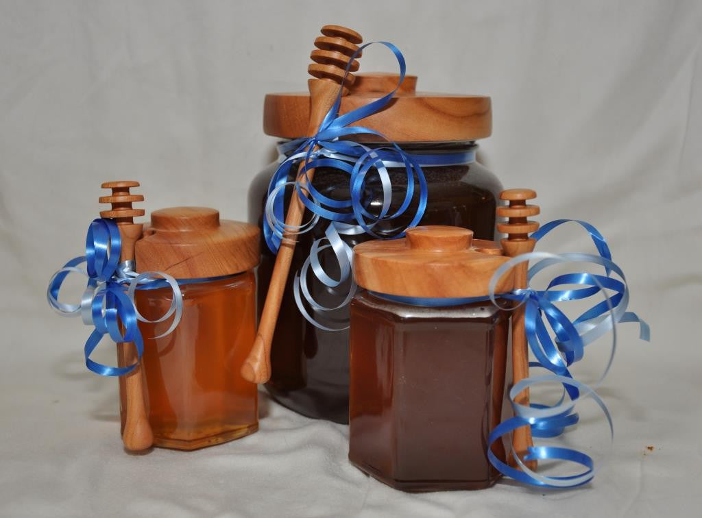 Honey Table Set - Hex Jar