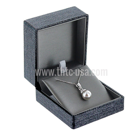 JFP9  Metallic Grey Premium Ribbon Pendant Box