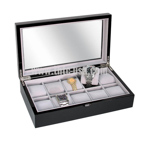 WC-2213-BK Premium Glossy Watch Case