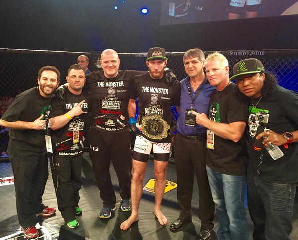 SHEATH Sponsored Kyle the Monster Nelson Takes Featherweight Belt in Elite 1 Championship
