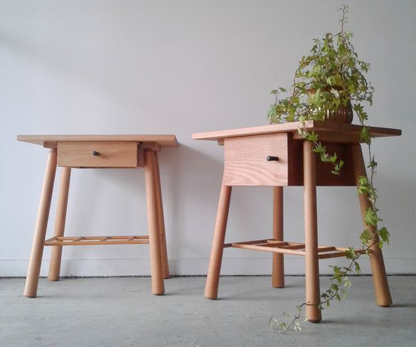 Bedside Tables - Oak and Rimu