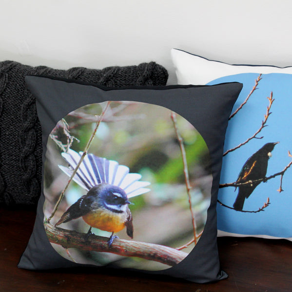 Piwakawaka - The Fantail Cushion