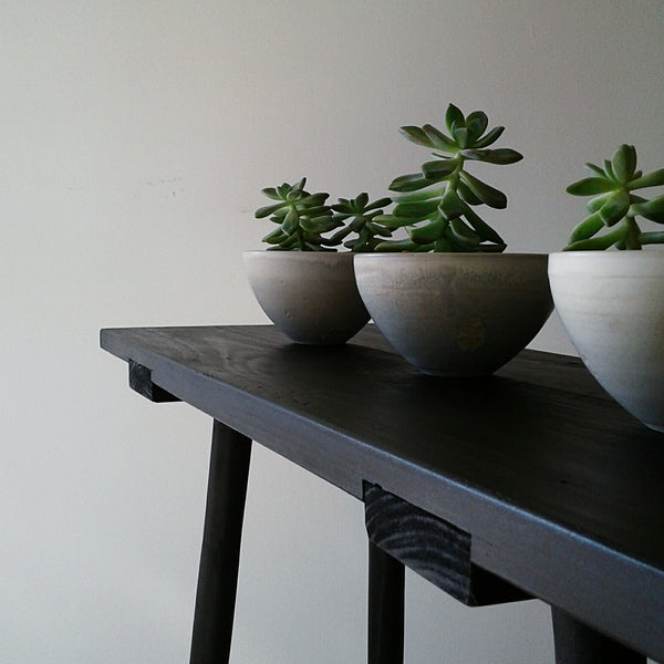 Minimal Black Console Table