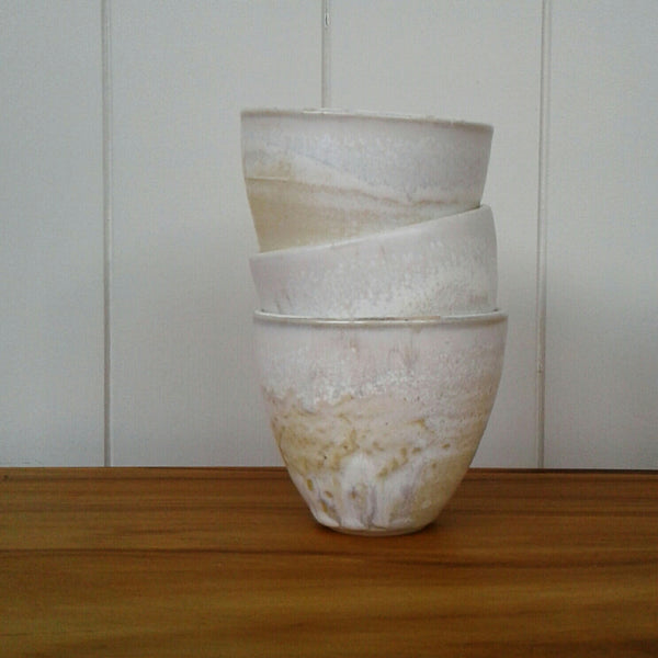 Mottled cream Tumbler