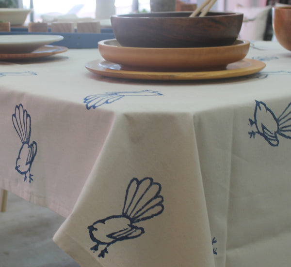 Tablecloth Fantail Navy