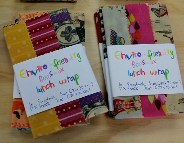 Enviro Friendly Beeswax Lunch Wraps