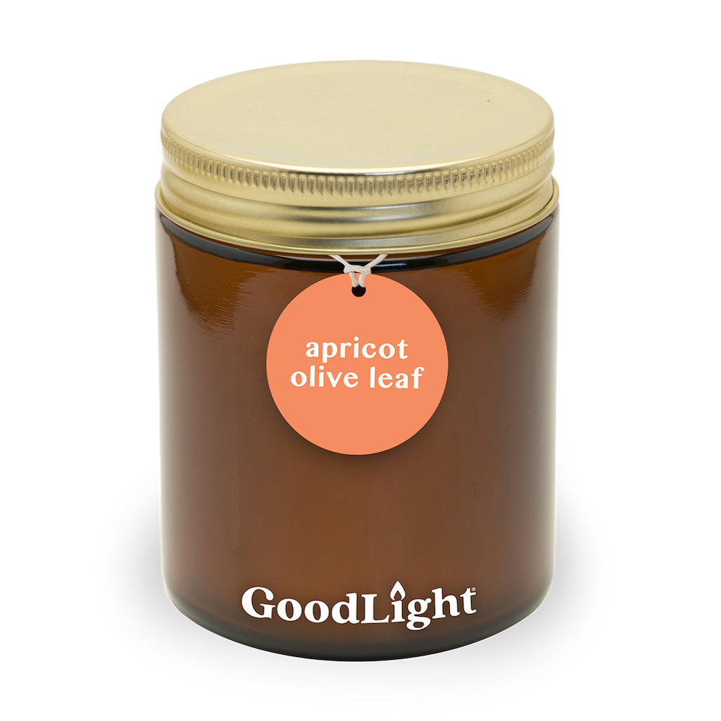 Apricot Olive Leaf 7 oz Apothecary Jar