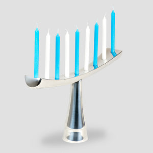 GoodLight Chanukah Candles: Natural, Non-Toxic, Paraffin Free, Menorah, Blue and White
