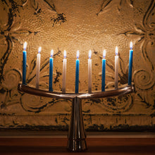 Load image into Gallery viewer, GoodLight Chanukah Candles: Natural, Non-Toxic, Paraffin Free, Menorah, Blue and White
