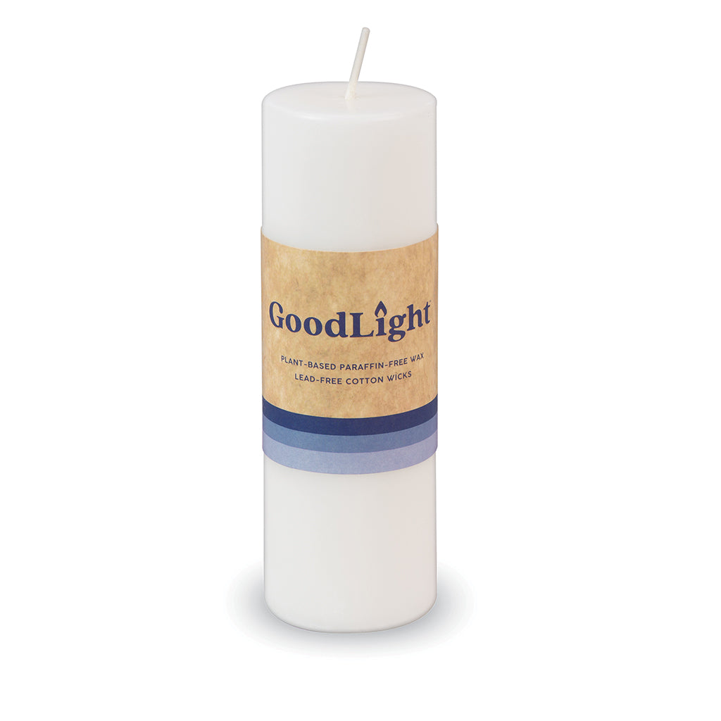 2 Inch Pillar Candle: Non-Toxic, Natural, Paraffin-Free - GoodLight