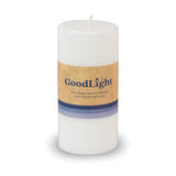 GoodLight 3 Inch Pillar Candle: Natural, Non-Toxic, Paraffin-Free