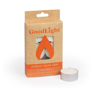 Apricot Olive Leaf Tea Lights - 6-count