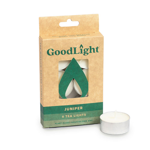 Juniper Tea Lights - 6-count