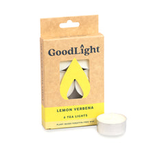 Load image into Gallery viewer, Lemon Verbena Tea Lights - 6-count