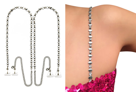 Luxury Diamante Crystal Straps for Strapless Dress, Tops, Gowns_by Pin Straps