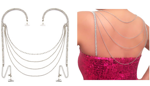 Luxury Tier Beads Crystal Dress Pin Straps