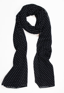 Black & White Polka Dots - Georgette