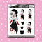 Tattooed Cruella Babe Doodle Sticker | CHOOSE YOUR SKIN TONE