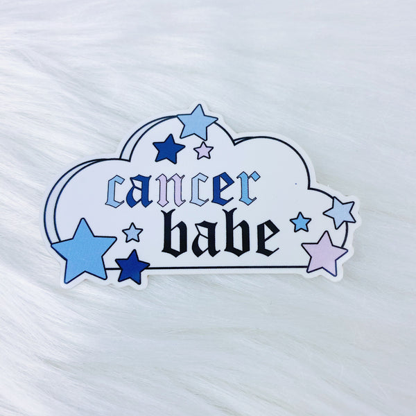 Cancer Babe Zodiac Cloud Vinyl Sticker Die Cut